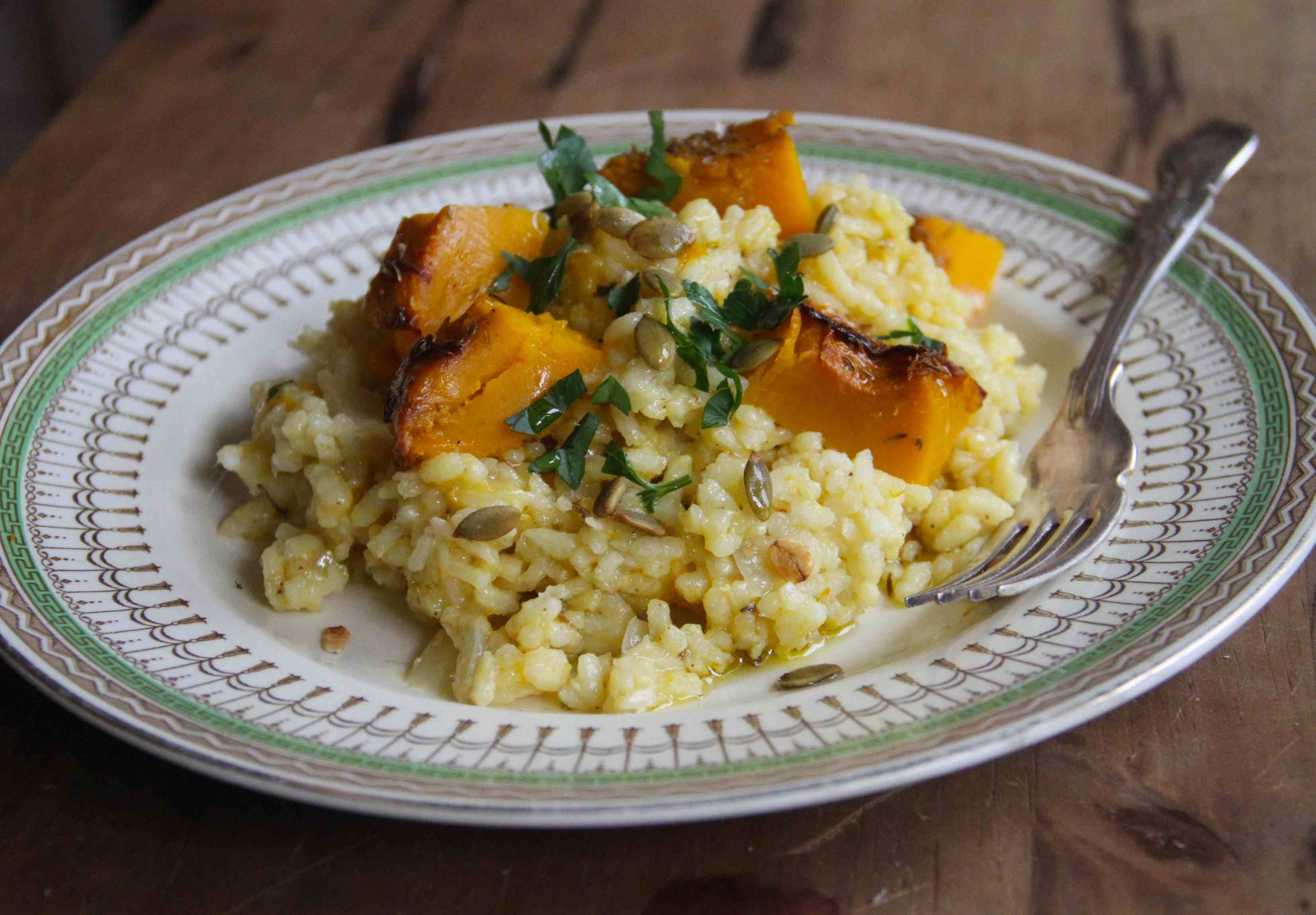 Baked Sage-and-Saffron Risotto Recipe — Dishmaps