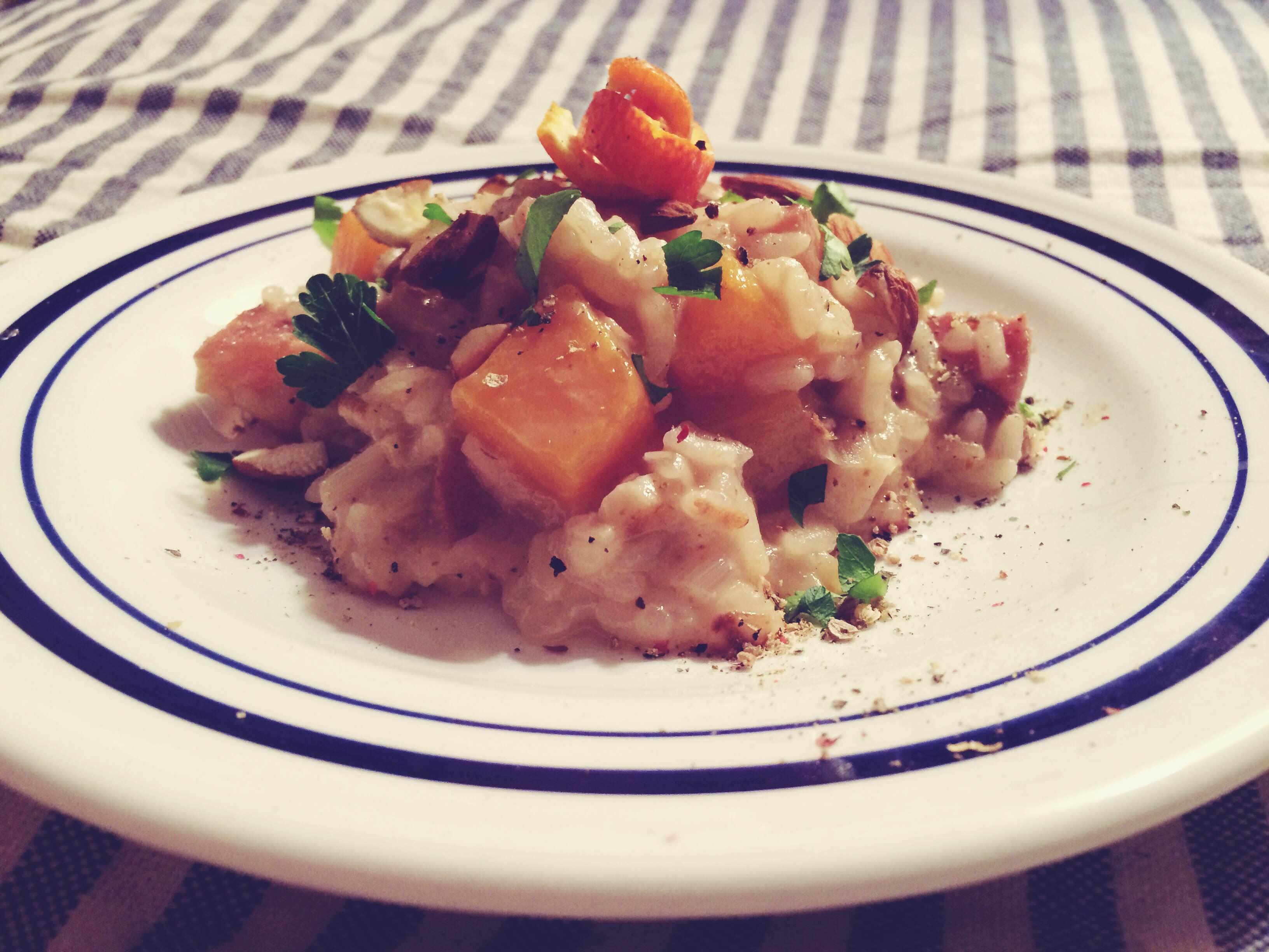 wintery mandarin risotto